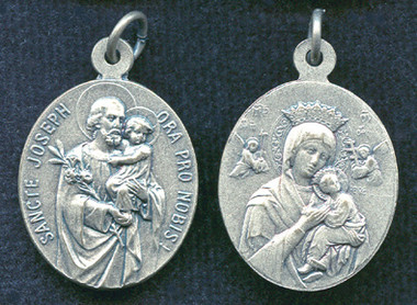 St. Joseph / Our Lady of Perpetual Help Oval Medal