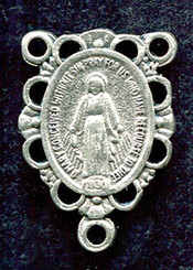 "Fancy Miraculous Medal - .75"" - Nickel Silver Centerpiece"