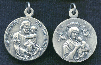 St. Joseph / Our Lady of Perpetual Help Round Medal