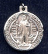 Sterling Silver St. Benedict Medal (back)