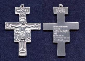 "San Damiano Crucifix - 2"" - Silver Oxidized"