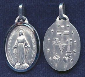 """.875"""" French Miraculous Medal"""