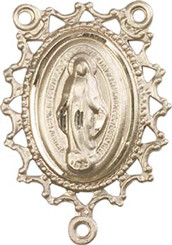 "Filigree Miraculous Medal - 1"" - Gold Filled Centerpiece"