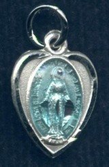 Heart-shaped Miraculous Medal