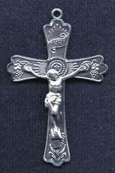 "Holy Eucharist Crucifix Style 1- 1.75"" - Sterling Silver"