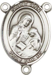"St. Ann- .75"" Oval - Pewter Centerpiece"