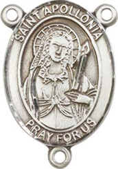 "St. Apollonia - .75"" Oval - Pewter Centerpiece"