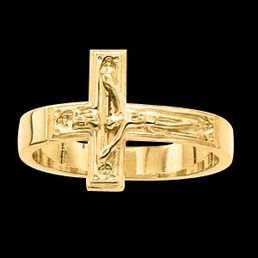 Crucifix Ring - Gents