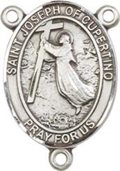 "St. Joseph of Cupertino   - .75"" Oval - Pewter Centerpiece"
