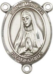 "St. Martha  - .75"" Oval - Pewter Centerpiece"