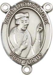 "St. Thomas More  - .75"" Oval - Pewter Centerpiece"