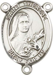 "St. Therese of Lisieux  - .75"" Oval - Pewter Centerpiece"