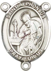 "St. Alphonsus - .75"" Oval - Pewter Centerpiece"
