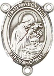 "St. Aloysius Gonzaga - .75"" Oval - Pewter Centerpiece"