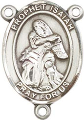 "Prophet Isaiah - .75"" Oval - Pewter Centerpiece"