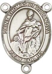 "St. Thomas of Villanova  - .75"" Oval - Pewter Centerpiece"