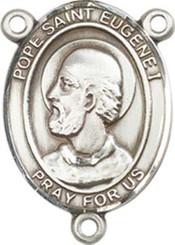"Pope Saint Eugene I - .75"" Oval - Pewter Centerpiece"