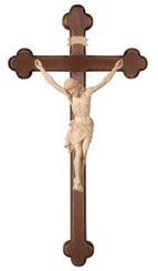 Natural Wood Siena Baroque Wall Crucifix