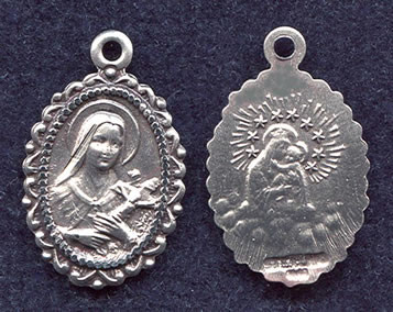 St. Therese with Our Lady of Mt. Carmel Medal