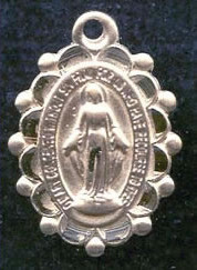 "Fancy Miraculous Medal - .50"" - Gold Filled Side Medal"