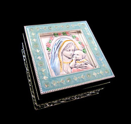 Madonna and Child Rosary Box - Style 2