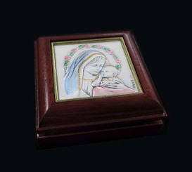 Madonna and Child Rosary Box - Style 3