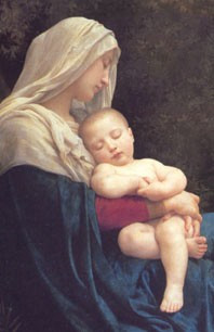 Madonna and Child Holy Card