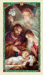 Front of holy card