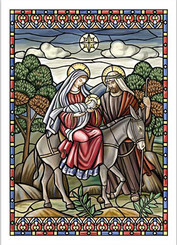 Flight into Egypt Christmas Card