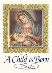 A Child Is Born Christmas Card