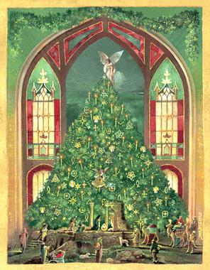 Creche Christmas Card
