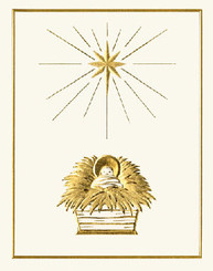 Christ Child in Manger Christmas Card