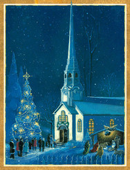 Midnight Mass Christmas Card