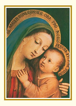 Mother of Good Counsel Christmas Thank You Card