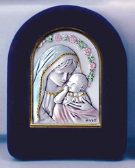 Madonna and Child with Roses Easel (large)