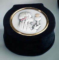 First Holy Communion Rosary Box for a girl