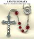 Nickel Silver Sample Rosary