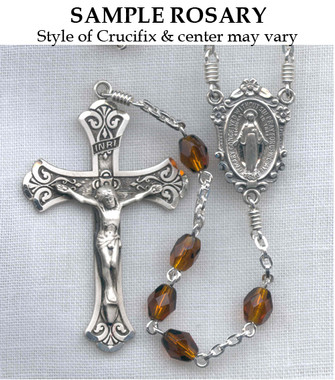 Sterling Silver Rosary Sample