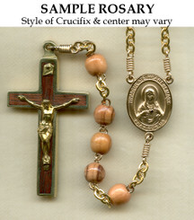 Round Olive Wood Rosary