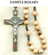 Olive Wood St. Benedict cord Rosary Sample