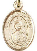 "Our Lady of la Vang- .50"" Oval - Gold Filled Side Medal"