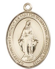 """Miraculous Medal - .75"""" - Gold Filled"""
