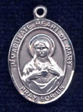 "Immaculate Heart of Mary Medal - .75"" - Pewter"