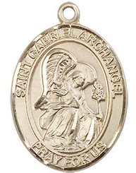 "St. Gabriel the Archangel - 1"" - Gold Filled"