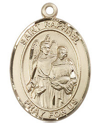 "St. Raphael the Archangel - 1"" - Gold Filled"