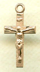 "Small Simple Crucifix - .50"" - Gold Filled"