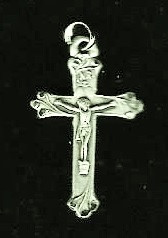 "Small Crucifix - .50"" - Pewter"