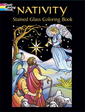nativity stained glass coloring book - Stained Glass Coloring Book