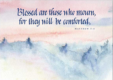 Blessed are Those Who Mourn Sympathy Card