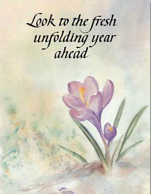 Look to the Year Ahead Birthday Card